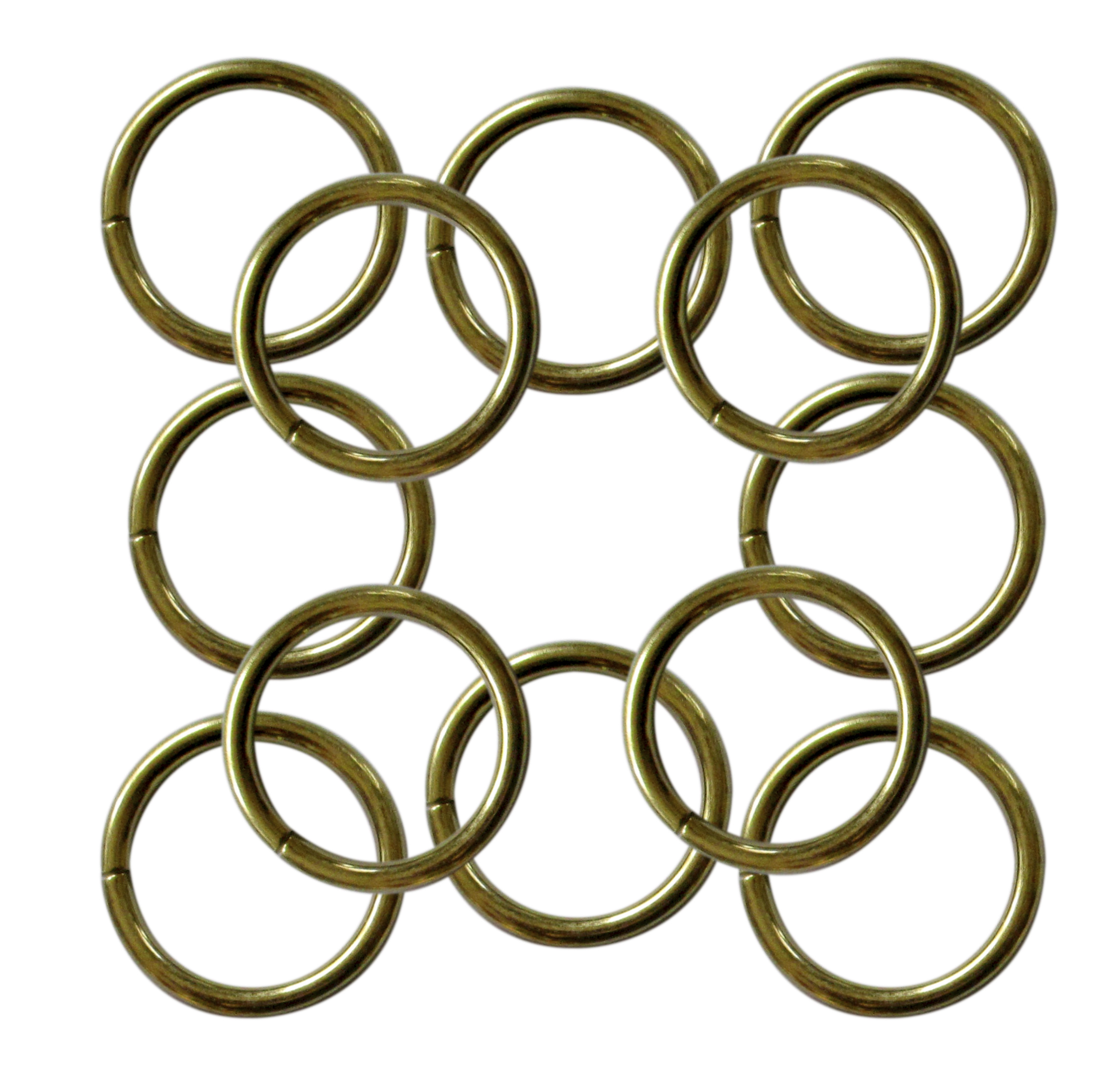 38mm 3 colours Metal O Rings unwelded 25 32