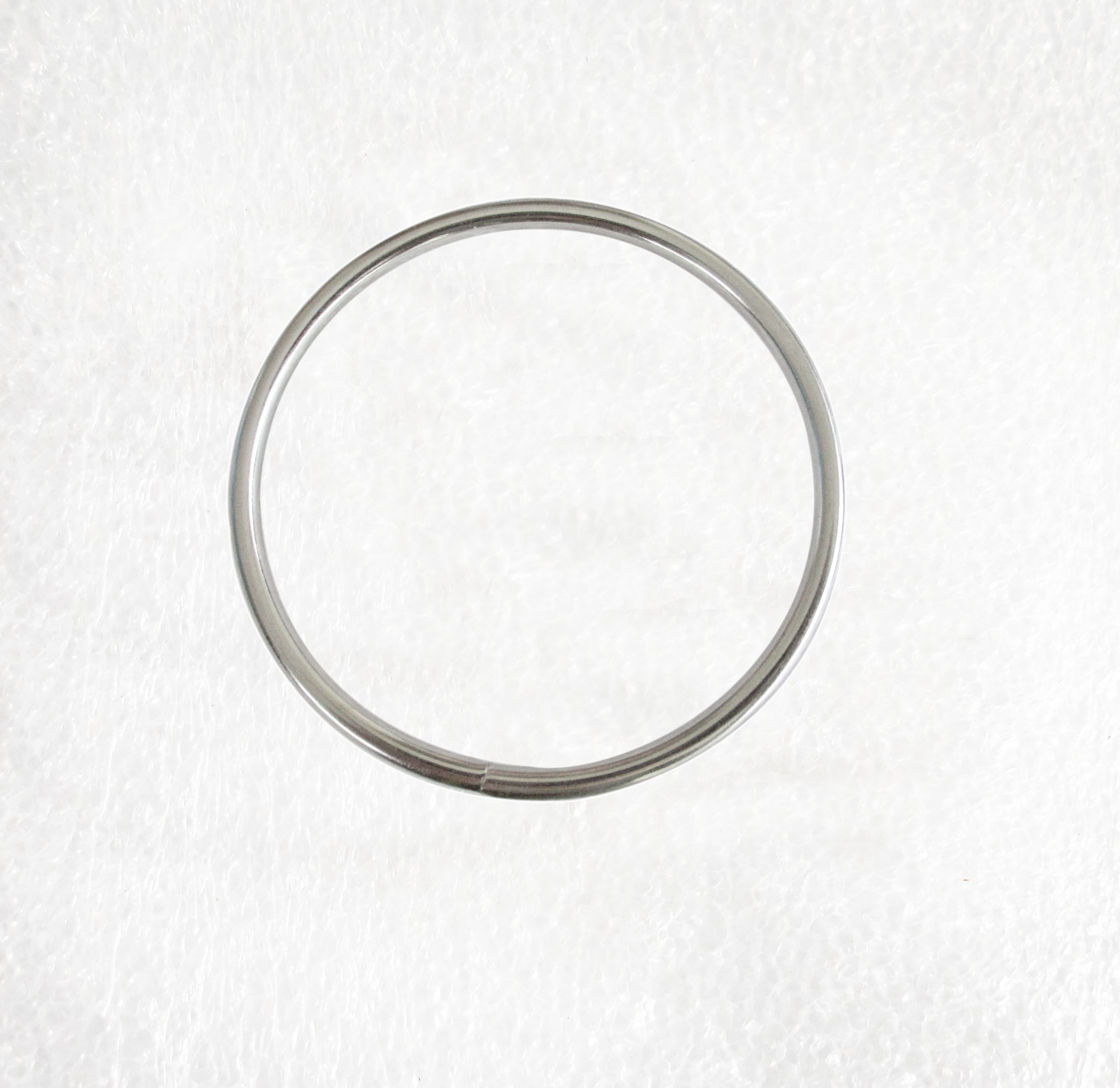 and buckles Metal Dee Rings unwelded silver 38x25mm for straps
