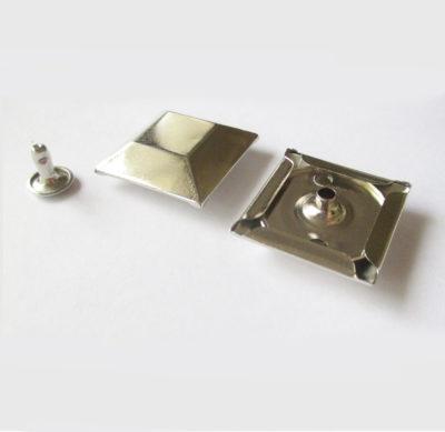 Flat square rivet 25mm