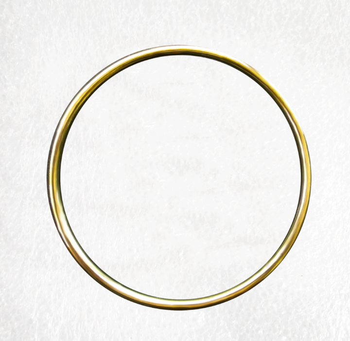 Gold Solid 100mm O Ring