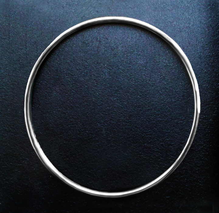 Silver 100mm Solid O Ring