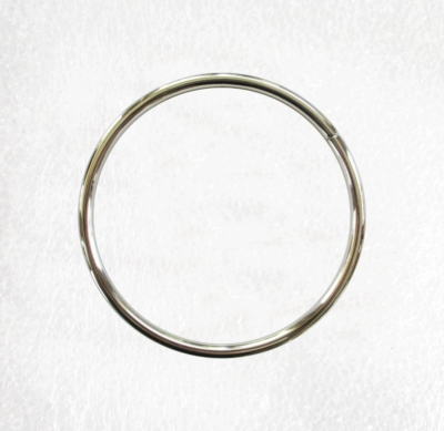 Large 100mm Metal Silver O Ring