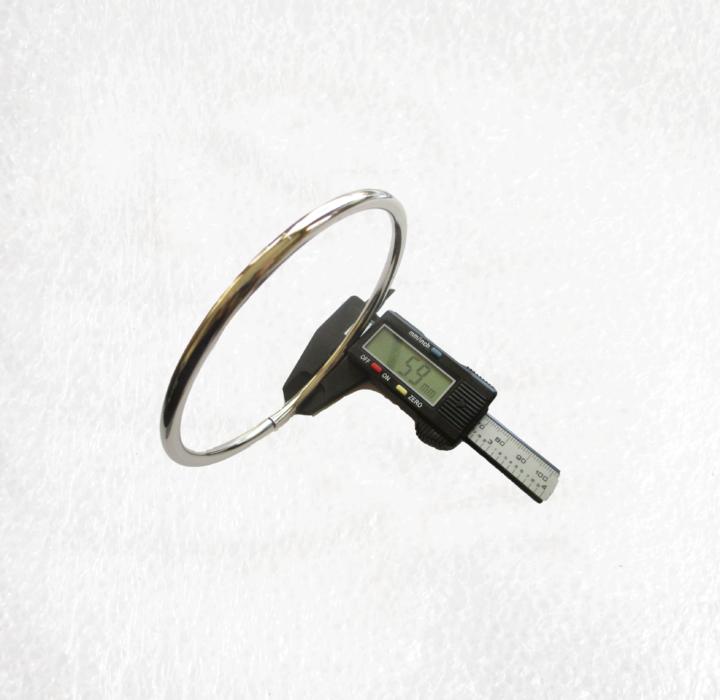 Large 100mm Metal Silver O Ring